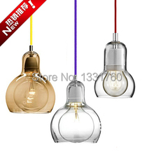 large size And Tradition Mega Bulb SR2 pendant light suspension Andtradition glass pendant lighting dinning room 3 heads