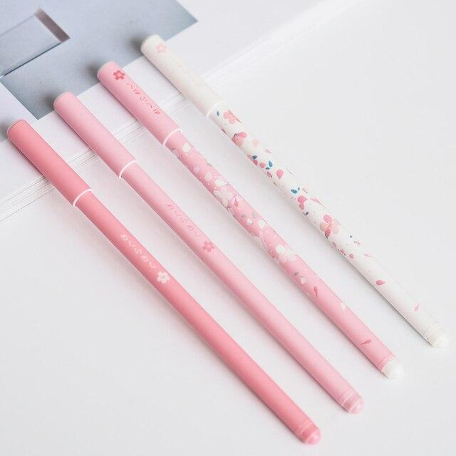 2pcs/pack Elegant Pink Princess Sakura Gel Pen Writing Signing Pen Student  Stationery Gift School