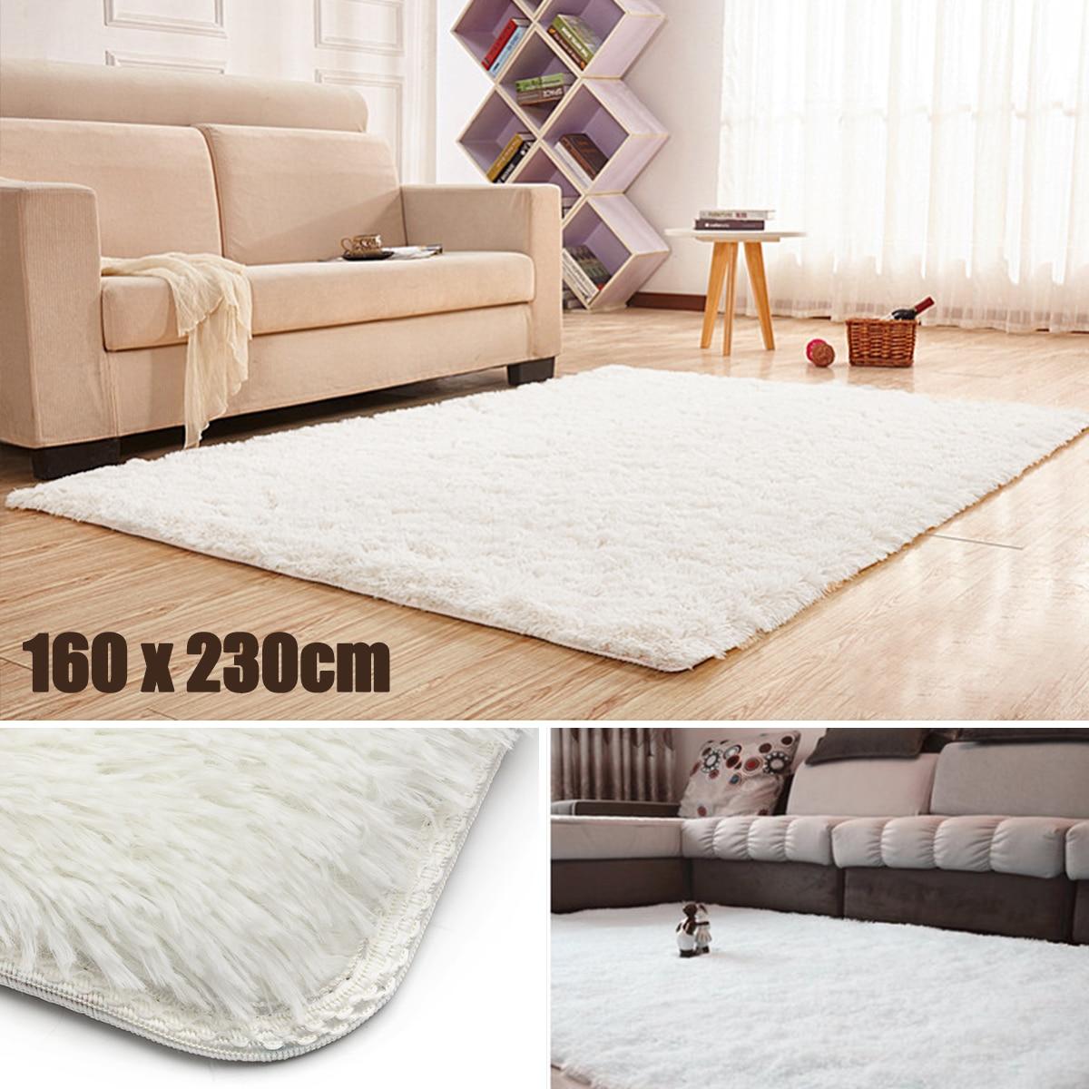 160*230cm Large Shaggy Rugs Silk Carpet Living Room Modern Hotel ...