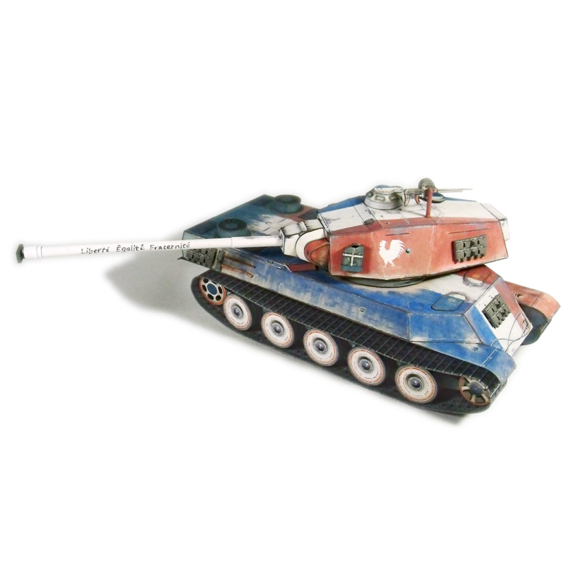 US $8 88 26% OFF|amx_m4_mle 1949 French 1:50 Tank DIY Paper Models Kids Toy  Puzzle Game Assemble Hand Work High Definition-in Model Building Kits from
