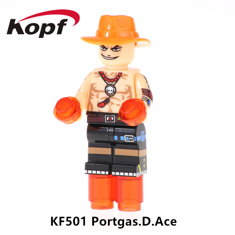 And Children Kf501 Super Heroes Building Blocks One Piece Figures Portgas.d.ace Monkey D.luffy Action Bricks Collection For Children Toys Suitable For Men Women