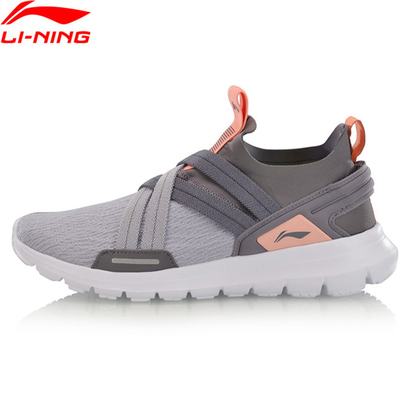 Li Ning Women FLEXRUNNING V2 Smart Moving Running Shoes Cushion Breathable LiNing Sport Shoes Sneakers ARKP002