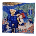 "100% Silk Scarf Fashionable Women bandana With Oil Painting Pierre-Auguste Renoir's ""Dane in the Country"