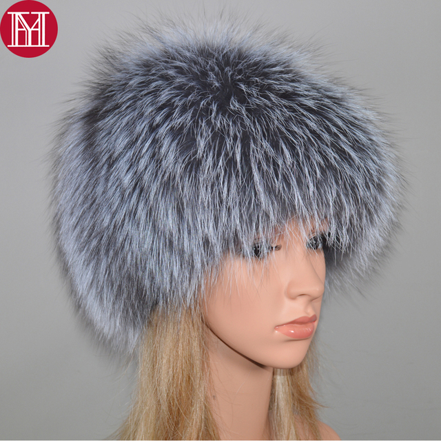 2020 New Luxury 100% Natural Real Fox Fur Hat Women Winter Knitted Real Fox Fur Bomber Cap Girls Warm Soft Fox Fur Beanies Hats