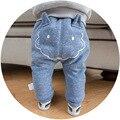 Recién nacido PP Pantalones Estilo Coreano fox imprimir Pantalones del Pan de Dibujos Animados Niños Y Niñas de Algodón Harlan pantalones de Invierno Otoño Pantalones Casuales