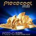 Sydney opera house P022-G DIY Piececool 3D laser cutting Jigsaw puzzle DIY Metal model Toys For Audit Home artwork Funny gift