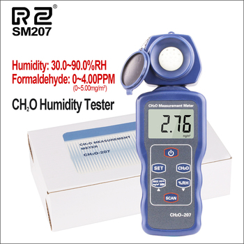 RZ Gas Detector Digital Formaldehyde Detector HCHO TVOC Handheld CH2O Humidity Tester With Lcd Screen Electrical Monitor