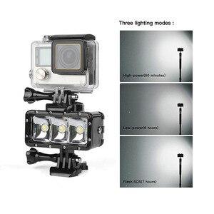 Image 4 - SHOOT 30M Underwater Waterproof LED Lamp Diving Fill Light for GoPro Hero 8 7 5 Black Xiaoyi 4K Sjcam Eken Video Flash Lighting