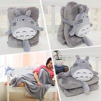 1 1 5M Totoro Volume Blanket Plush Toys Adult Air Conditioning Blanket Coral Fleece Blanket Christmas