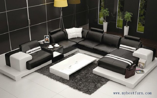 Elegante Sofas combinación múltiple elegante sofá moderno tamaño grande estilo de