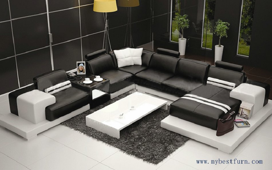 Multiple Combination Elegant Modern Sofa, Large Size Luxury Fashion Style,  Best Living Room Couch
