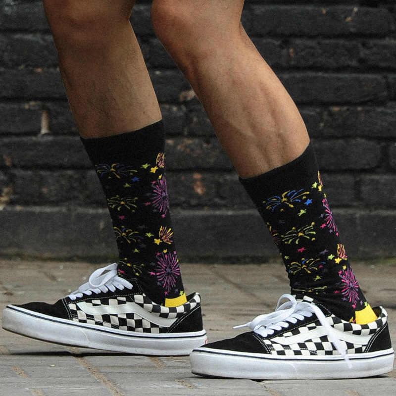 0da99df1f6ba3 ... Creative New Men Socks Fireworks Novelty Happy Socks Cotton Harajuku  Funny Hip Hop Socks Mens Weed ...