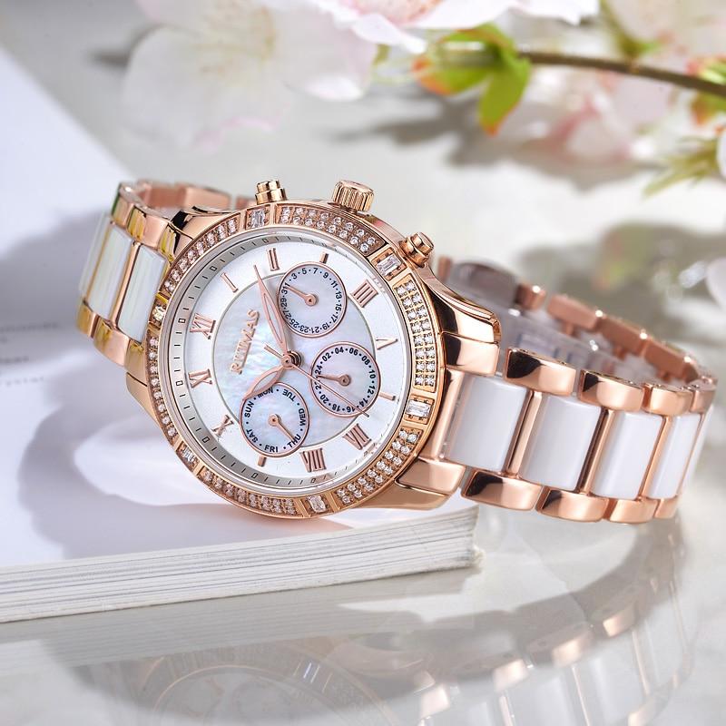 RUIMAS kobiet zegarki luksusowe panie Top marka moda zegarek kwarcowy kobiet elegancja zegar sukienka kobiet klejnotów zegarek Montre Femme w Zegarki damskie od Zegarki na  Grupa 1