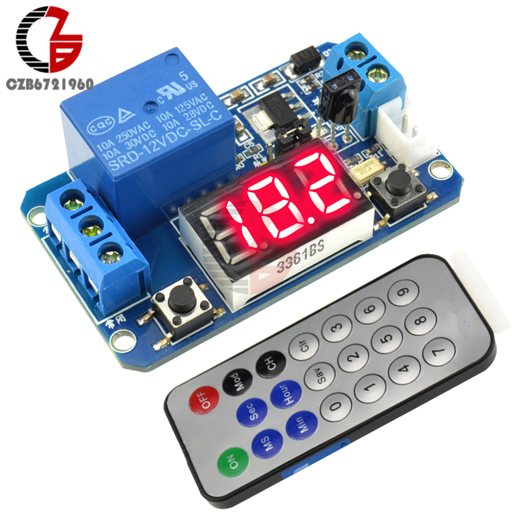 Infrared remote control DC 12V timer delay relay LED tube display module for Arduino недорго, оригинальная цена