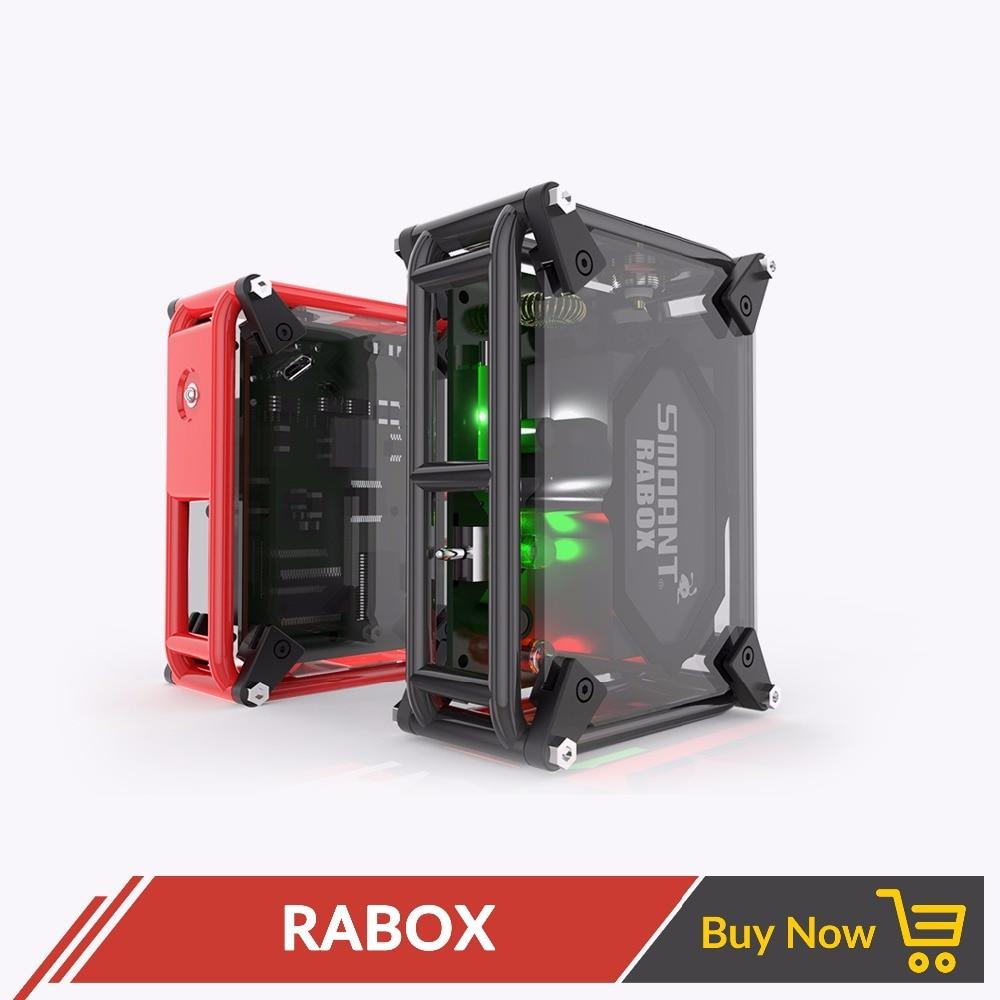 Original Smoant RABox Mod 100 W intégré 3300 mAh batterie réglable haute/douce mécanique Mod fit Cigarette électronique RDA RDTA