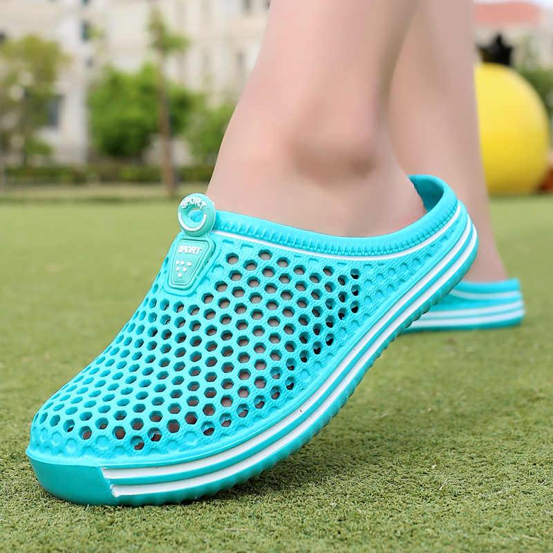 Bjakin Rahat Erkekler Havuz Sandalet Yaz Açık plaj ayakkabısı Üzerinde Kayma erkekler Bahçe Takunya Trend Su Duş Terlik Unisex Su