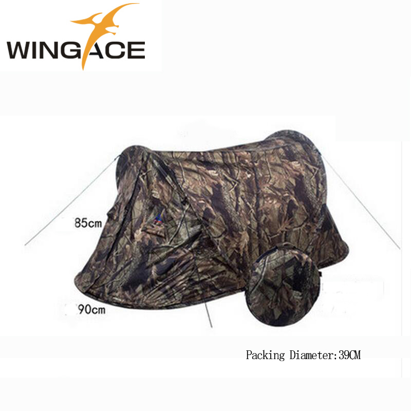 WINGACE Outdoor Camping Pop Up Tent Ultralight Portable Camouflage Automatic Single tent Hunting Fishing Beach Hiking Tents in Tents from Sports Entertainment
