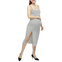 Fashion hot Summer Maternity dress Sleeveless Cotton Blends Striped Print Breastfeeding Sundress Pregnancy Daily Causal