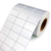 10000 Stickers Silver Barcode Label Rolls 30X10MM PET Adhesive Label Paper For Zebra