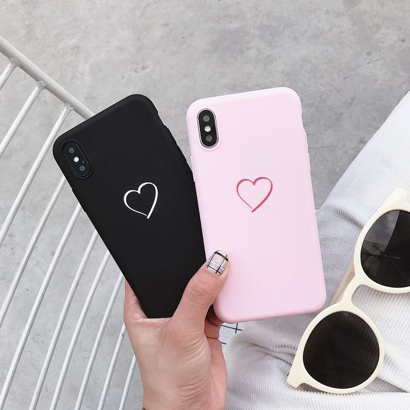 Cute Love Heart Cover For Samsung Galaxy Note 10 Pro 9 8 Case For Samsung S20 S10 S10E S9 S8 Plus S7 S6 Edge Soft Silicone Cases