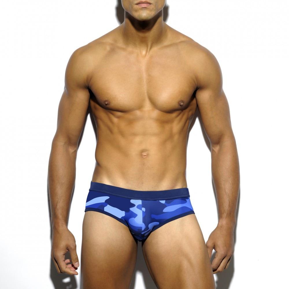 Men's Swim Briefs Low Waist Swimming Short Trunk Sport Beach Pants Swimwear Male Sexy Suilt Surfing Sports big man Plus Size