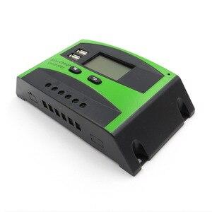 Image 3 - 60A 50A 40A 30A 20A 10A 12V 24V PWM שמש סלולרי פנל סוללה מטען Controller רגולטור LCD תצוגה USB 5V טלפון נייד מטען
