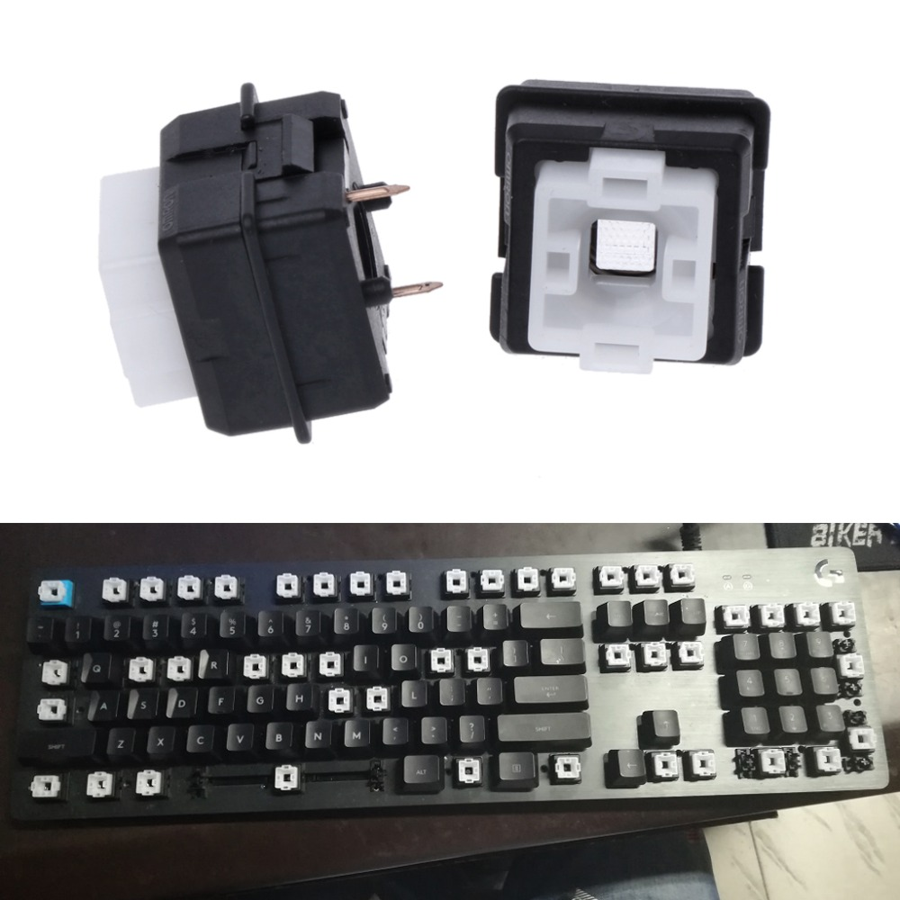 -smart 2 Piezas Original Romer-g Interruptor Omron Eje Para Logitech G910 G810 G413 K840 Rgb Eje Teclado Interruptor