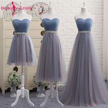 Beauty Emily Vestidos largos de tul de alta calidad, vestido elegante de dama de honor, línea de forma de A, Vintage vestidos para fiesta y graduación, sin hombros