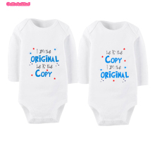 Long Sleeve Fashion Baby Girls Clothing Twins Baby Clothing Sets Infant Baby Bodysuit  Jumpsuit Twins Baby Bodysuits