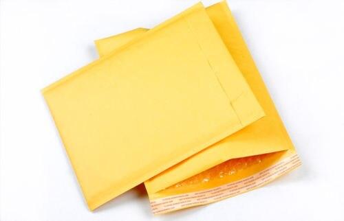 10 Pcs/Set Bubble Mailers Padded Envelopes Small Size Kraft Paper Air Bubble Envelope Bag Yellow Color