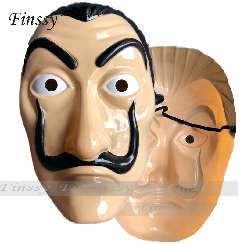 La Casa De Papel Mask Salvador Dali Latex Cosplay Mask Halloween Realistic Adult Party Props Masks
