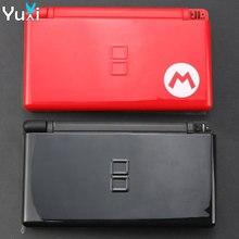 YuXi czarny czerwony pełna powłoka obudowa gra ochronna zestaw etui wymiana naprawa dla Nintend DS Lite dla NDSL kontroler do gier