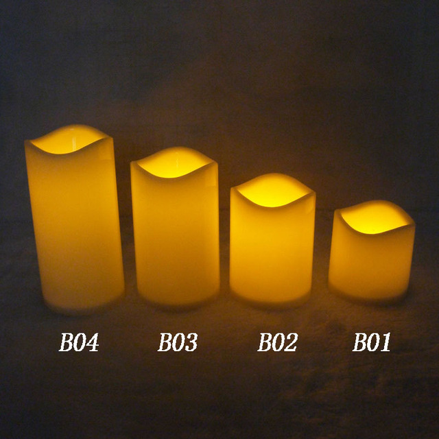 15 13 10 7 5cm cylindrical flickering led candle light flameless