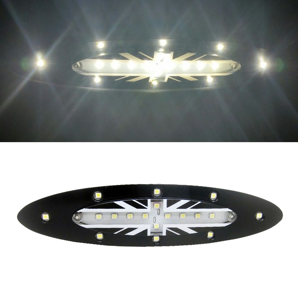 1pcs 18x WHITE LED ROOT INTERIOR DOME LAMPU LAMPU UNTUK BMW MINI Cooper S R56 (2006-2008) Reka bentuk bendera JACK UNION