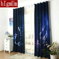 12 Constellation Polyester Curtains Of Living Room Window Kitchen Curtains Bedroom Drapes Blackout Cortinas