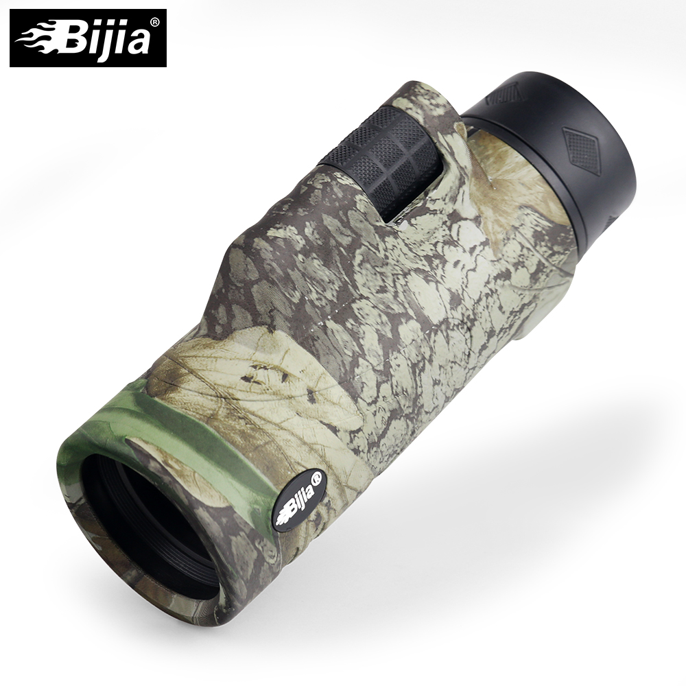 BIJIA 10x42 Monocular 4 Colors Travel telescope BAK4 Prism Multilayer Coating Hand Focus For Hunting Bird Watching