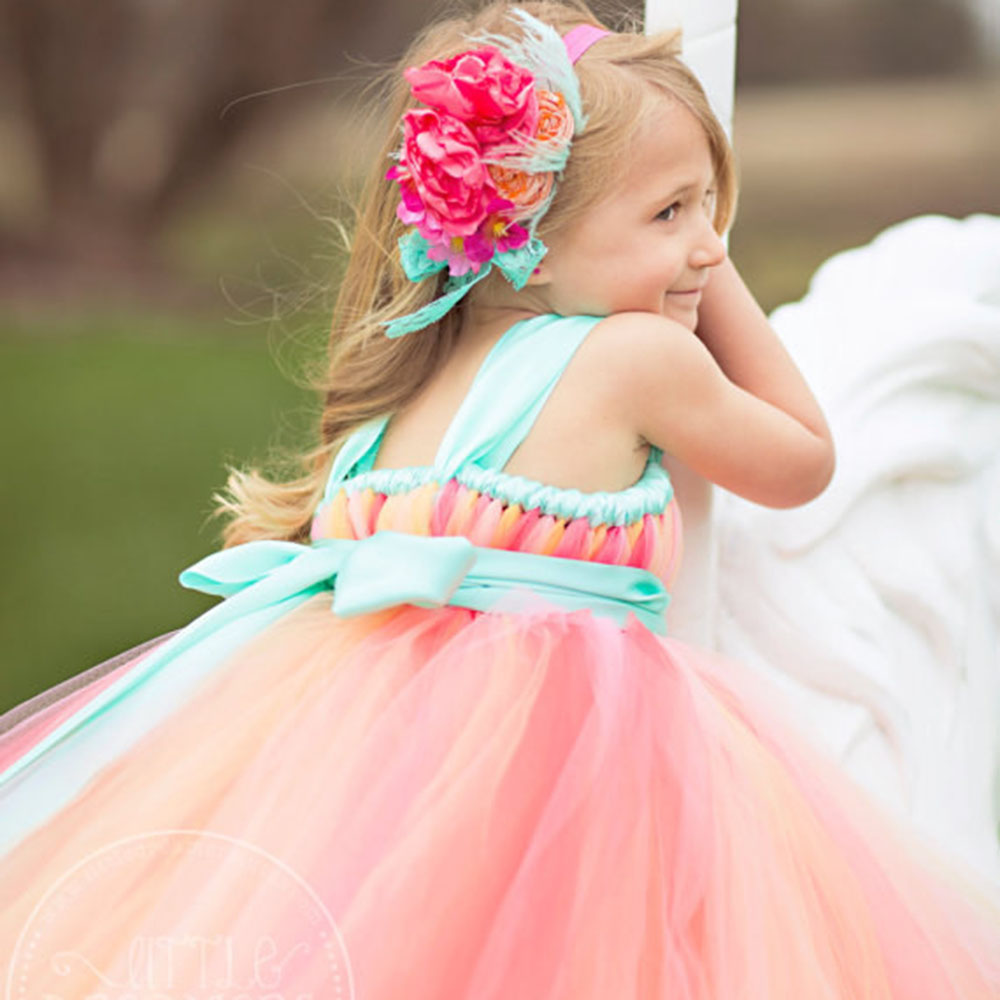 Aliexpress buy pageant dresses for little girls corals peach aliexpress buy pageant dresses for little girls corals peach mint green sash gorgeous flower girl dress for wedding birthday party from reliable dress ombrellifo Image collections
