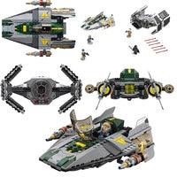 Lepin 05030 722Pcs Rogue One Vader's TIE Advanced VS A-Wing Starfighter Building Blocks Bricks Toys Kids Gift 75150