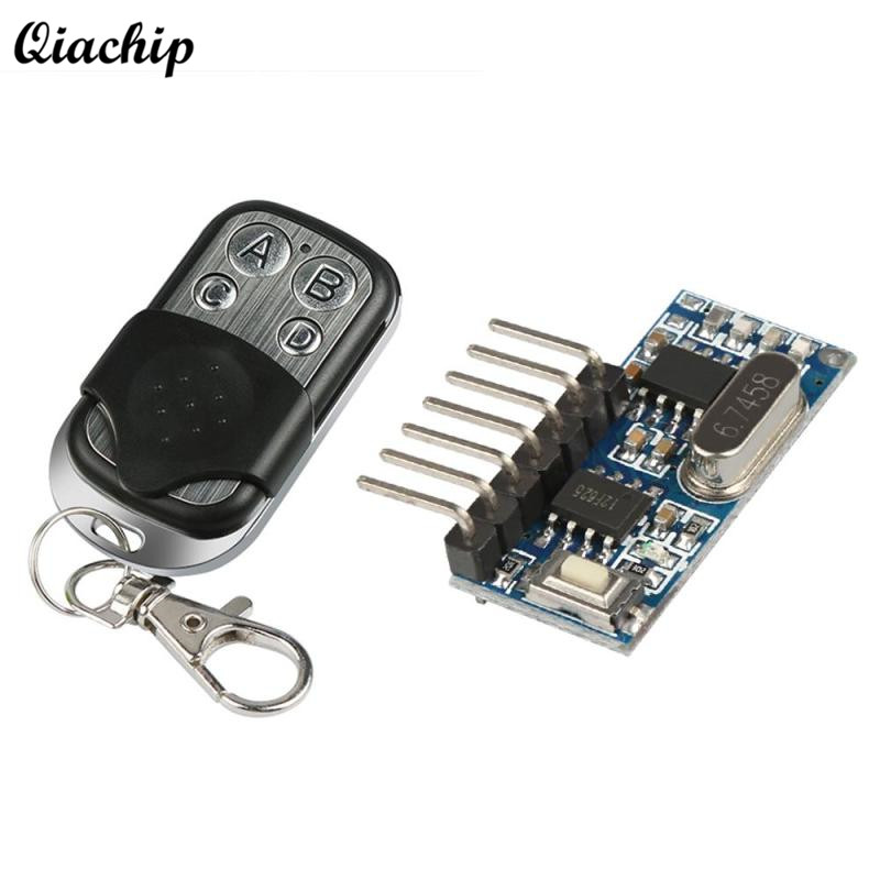 DC 12V 4 CH 433Mhz RF Remote Control Switch Learning Code 4 Button Receiver + Transmitter For Arduino Uno Key Fob Module Z50