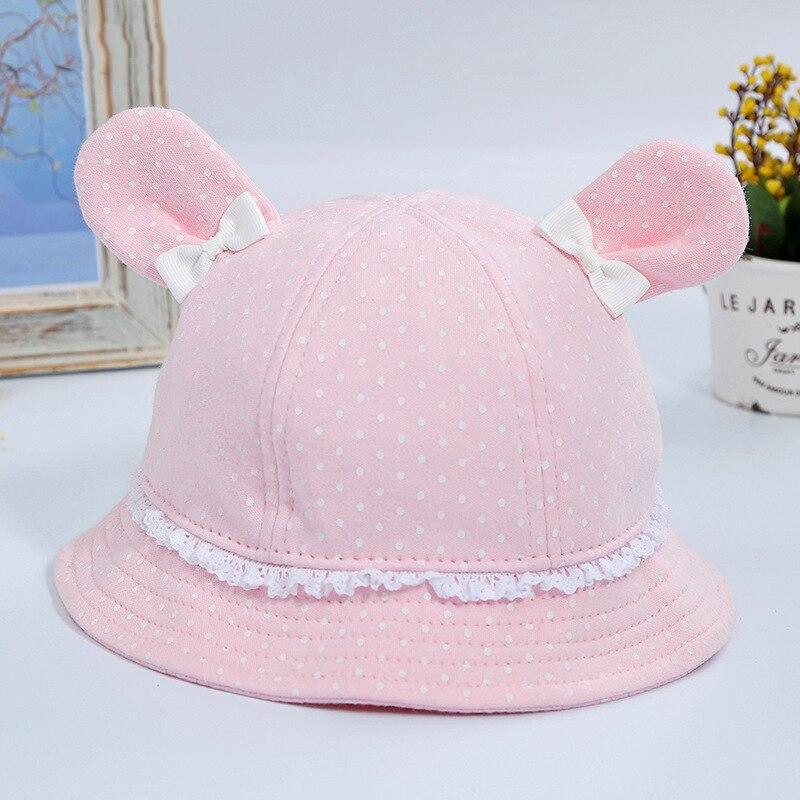 2018 Neue Mode Schöne Sommer Rosa Und Blau Kaninchen Ohr Gedruckt Eimer Hüte Im Freien Angeln Sun Caps Frauen Mädchen üBerlegene Materialien
