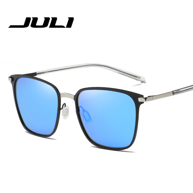 JULI Brand Polarized Unisex Sunglasses Men Vintage Women Alloy Frame Glasses Eyewear Accessories Driving Sun Glasses Oculos UV40