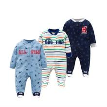 Wysokiej jakości wiosna jesień Baby pajacyki z długim rękawem noworodka ubrania dla dzieci bawełna dziewczynka chłopiec odzież kombinezon niemowlęce ubrania