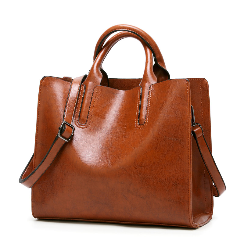 b5a885eae2 NIGEDU Brand Leather Women Handbags Famous Big Women Tote Bags Casual  Shoulder Bag Ladies large Bolsos Mujer Office bag-in Top-Handle Bags from  Luggage ...