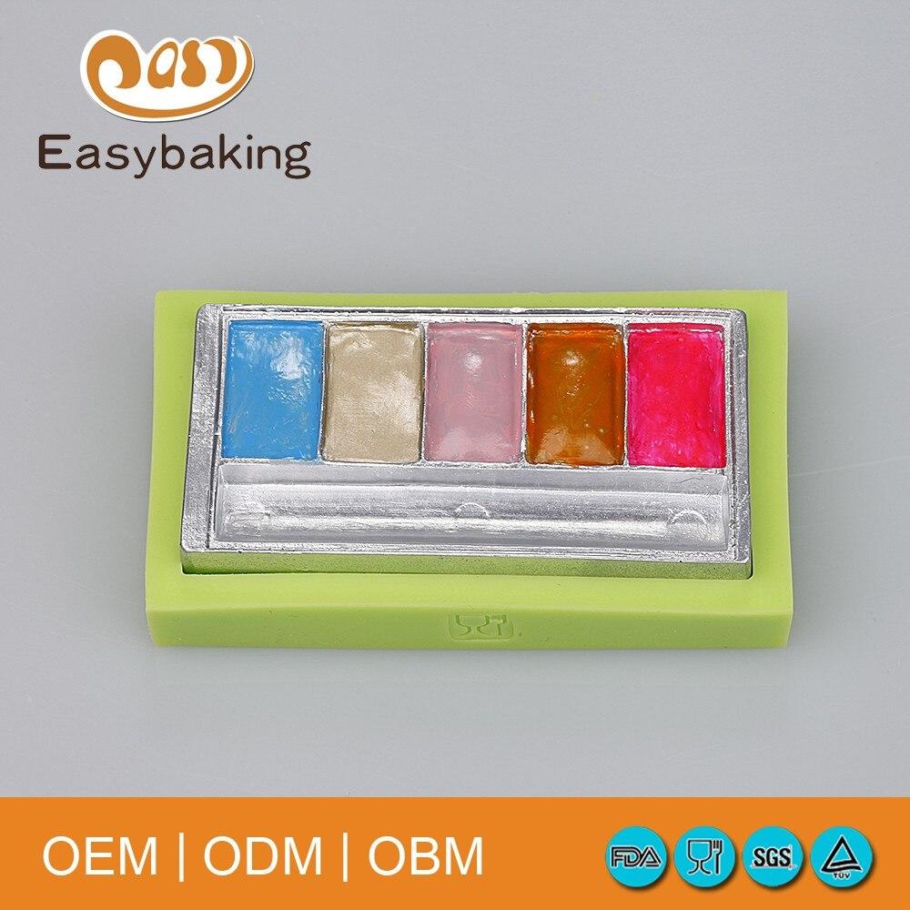 Visoka kvaliteta pravokutnog oblika žene kozmetika silikonska plijesan fondant torta alati kuhinjski pribor