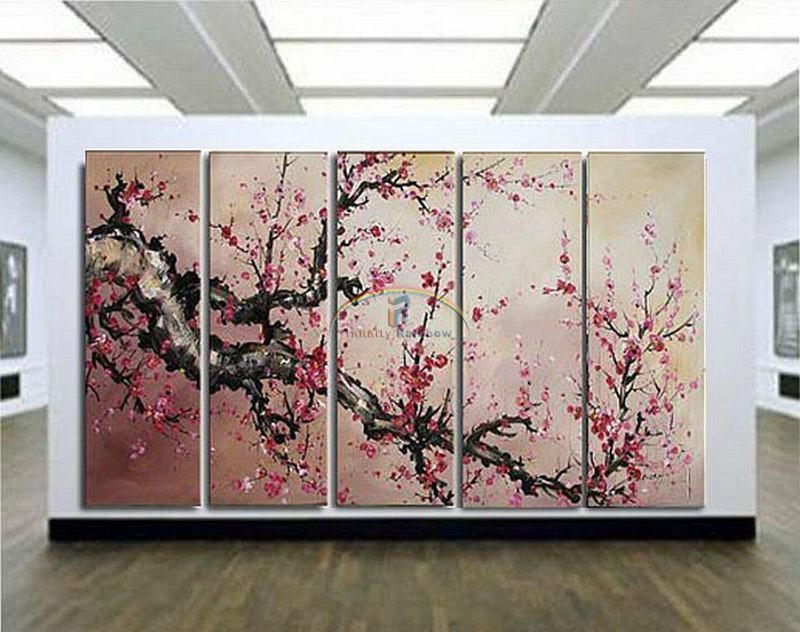 2016 Home Decor Hot Sale Rushed Large Blossom Oil Painting Wall Art Hand painted Modern On