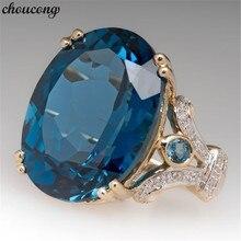 Choucong Dove eggs Promise кольцо овальной огранки Кристалл Циркон Cz Золото Цвет юбилей обручальное кольцо кольца для женщин вечерние ювелирные изделия