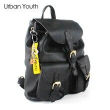 Городской молодежи модный бренд Женщины рюкзак высокое качество из искусственной кожи Школьные сумки женские принты Drawstring рюкзаки