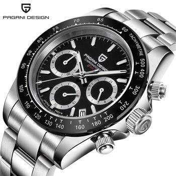 Relogio Masculino Pagani Design Chronograph Military Quartz Watch Men Luxury Brand Sapphire Sport Wrist Watch Luminous Clock Man