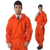 직장 남성 안전 보호 Repairman 긴 소매 점프 슈트 작업 유니폼 작업복 옷 먼지 방지