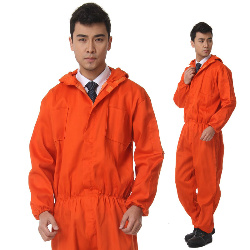 Workplace Overalls Men Safety Protective Coverall Repairman Long Sleeve Jumpsuits Workin ...